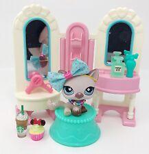 Littlest Pet Shop LPS Lot Purple Shorthair Cat Butterfly #664 Beauty Accessories