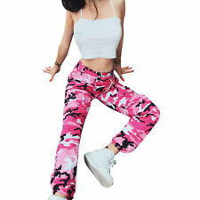 Womens Camo Trousers Pant Combat Camouflage Printed Ladies Loose Foot Cool pants
