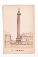 Vendome Column, Vintage Cabinet Card