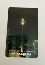 Malaysia TM KL Tower Phone Card  电话卡 Night View