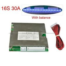16S 30A 48V LifePO4 Lithium Cell Battery Protection BMS PCM Board with Balance