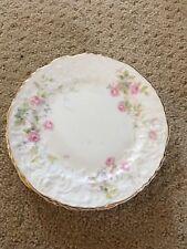 Pope Gosser China,Rose Bank Pattern #3025 Pink Rose w/Garland USA Bread Plates