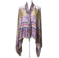Anthropologie Kas Paraiba Kimono Cardigan XS/S Women's Silky Scarf Print Jacket