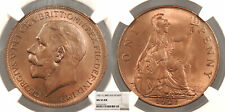 GREAT BRITAIN George V 1921 Penny NGC MS-65 RB