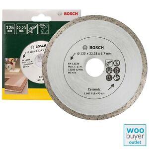 Bosch 125mm Diamond Cutting Disc / Blade - For Tiles