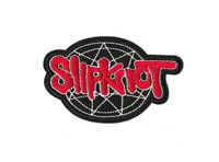 SLIPKNOT RED Iron On / Sew On Patch Embroidered Badge Music Black White PT511