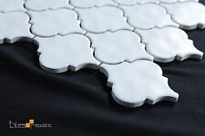 Lantern Matt White Ceramic Mosaic Tile Sheet 286x306