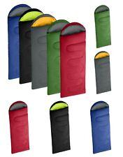 Extra Large Outdoor Double Zipped Camping Rectangular Sleeping Bag Hard Wearing