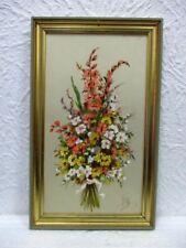 """Tableau  """" Bouquet de Fleurs """" signé"""