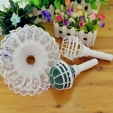 Foam Bouquet Holder Handle Bridal Wedding Flower DIY Decoration + Lace Trim