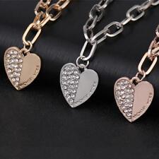 Fashion Jewelry Heart Bracelet Crystal Diamond Chain M @K Letter Bangle Bracelet