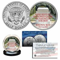 TOMB OF THE UNKNOWN SOLDIER Arlington National Cemetery JFK US Coin with COA