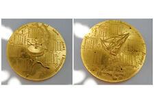 Médaille calendrier en bronze  1975