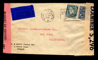 Ireland 1941 Dual Censor Cover to USA / Better Issues - L11004