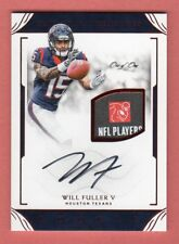 WILL FULLER 2016 NATIONAL TREASURES AUTOGRAPH LOGO TAG PATCH RC # 1 / 1 TEXANS