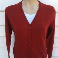 Women's Cashmere Sweater Ladies Jumper Winter v-neck Tops Maroon Winter Cardigan