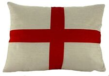 England St Georges Cross Flag Quality Chenille Cushion UK made  Evans Lichfield