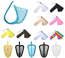 Men's See Through Pouch Thong Briefs Penis Cotton Socks Cover C-string Underwear