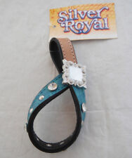 Trinity Turquoise Crystal Bling Tie Down Keeper Hobble Western Rodeo Horse Tack