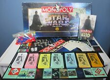Star Wars Monopoly Game Classic Trilogy Edition 9 Pewter Tokens 1997 Complete