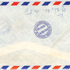 BT149 Thailand 1970s *BRITISH DISPENSARY*Cachet Registered Airmail Cover MEDICAL