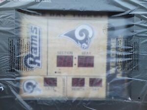 Team Sports America LA/St louis Rams Bluetooth Scoreboard Wall Clock NEW