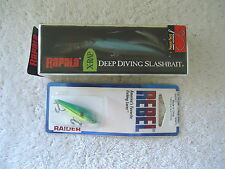 "Lot Of 2 "" NIP "" Fishing Lures,1,Rapala X-Rap,1,Rebel Raider "" GREAT LURES """