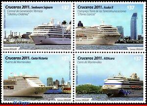 11-03 URUGUAY 2011 - PASSENGER SHIPS, SHIPS AND BOATS, SET COMPLETE MNH