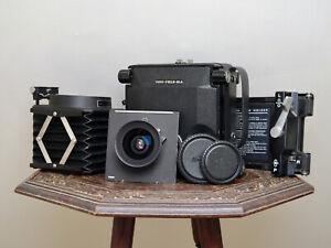 [Near Mint] Toyo 45A, Nikon 90mm f/8, Polaroid Back + Hood   Large Format Outfit