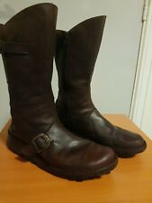 Womens Fly London Mes 2 Brown Leather Mid Calf Ladies Flat Ankle Boots Size 8