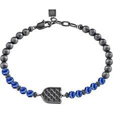 Bracciale Uomo MORELLATO NOBILE SAKB13 Acciaio Inossidabile Nero Pietre Blu