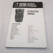 Kodak Lens 80-210mm Zoom Instruction Manual (En) 6103071
