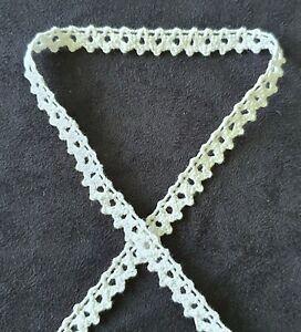 Vintage Style Lace Trim Crochet Ivory White Craft Wedding Sewing Bridal Ribbon
