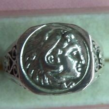 Greek Alexander the Great Coin Sterling Silver 925 Men's Ring skaisA17