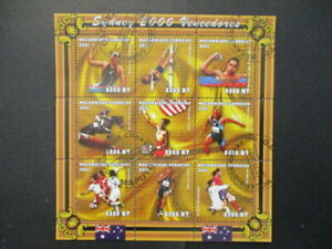 2001 Mozambique S#1423-33 Olympic issue Sidney stamp s/s lot of 11 used NH