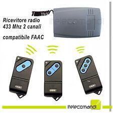 Ricevitore radio ricevente 433 Mhz 2 canali compatibile FAAC TM 433 tm1 tm2 tm3