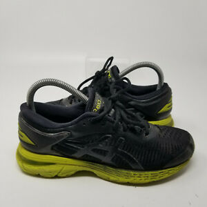 Asics Green Mesh Lace Up Athletic Running Tennis Shoes Sneaker Boy Size 5