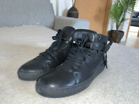 ⭐️ MEN'S BUSCEMI LEATHER BLACK HIGH TOP SNEAKERS  SPORT SHOES 10   ⭐️