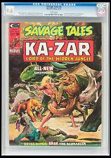 Savage Tales #6 CGC NM+ 9.6 Ka-Zar Neal Adams cover