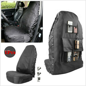1Pcs Car Seat Cover Multi-Pockets Storage Waterproof Protector Oxford Cloth + PU