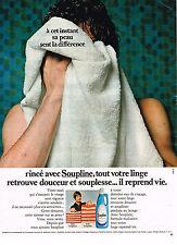 PUBLICITE ADVERTISING  1972   SOUPLINE  assouplissant linge