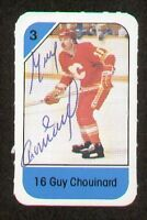 Guy Chouinard signed autograph auto 1982-83 Post Cereal NHL Hockey Card