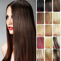 30inch 120g  Full Head Clip in 100% Remy Human Hair Extensions 11 Colors
