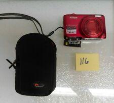 Nikon COOLPIX S6500 16.0MP Digital Camera. Wi-fi. Red
