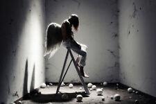 Incorniciato stampa-incarcerati Guardian Angel (foto poster arte Gotica Ali prigione)