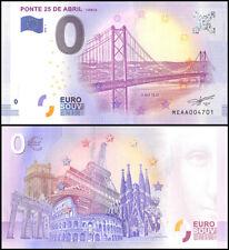 Zero (0) Euro Europe, 2018 - 1 (1st Print), UNC, Ponte 25 De Abril in Portugal