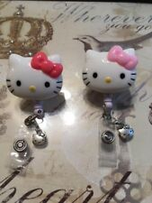 Hello Kitty 36mm Retractable Reel ID Badge Holder ~ Set of 2 ~ Free Shipping!
