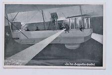 26983 AK 1. Weltkrieg Ausguck in der Zeppelin Gondel Luftschiff bei Nacht 1915