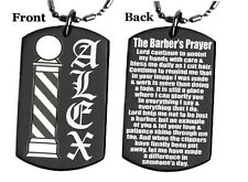 BARBER'S PRAYER - Dog tag Necklace/Key chain + FREE ENGRAVING
