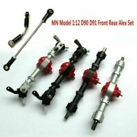 1*MN Model1:12 D90 D91RC Car Upgrade Metal Front Axle Rear Axle Bridge Shell Set